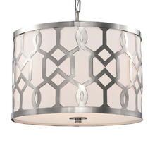 Crystorama 2265-PN - Libby Langdon for Crystorama Jennings 3 Light Polished Nickel Chandelier