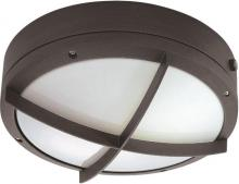 "Nuvo 60/2544 - Hudson ES - 2 Light 13w GU24 - 10"" Round Wall / Ceiling Fixture w/ Cross Grill"