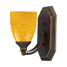 ELK Lighting 570-1B-CN - Bath And Spa 1 Light Vanity In Aged Bronze And C