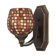 ELK Lighting 570-1B-MLT - Bath And Spa 1 Light Vanity In Aged Bronze And M
