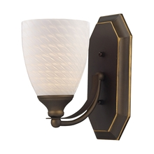 ELK Lighting 570-1B-WS - Bath And Spa 1 Light Vanity In Aged Bronze And W