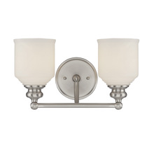Savoy House 8-6836-2-SN - Melrose 2 Light Bath Bar
