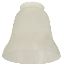 "Craftmade 108 - 2 1/4"" Fan Glass, Bell Shaped in Alabaster Swirl"