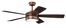 "Craftmade BRX52BCP5 - Braxton 52"" Ceiling Fan (Blades Included) in Brushed Copper"