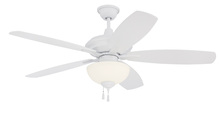 "Craftmade CN52W5 - Copeland 52"" Ceiling Fan with Blades and Light in White"