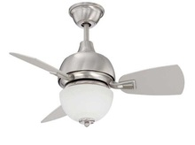 "Craftmade DA30SS3 - Dane 30"" Ceiling Fan with Blades and Light in Stainless Steel"