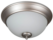 "Craftmade XP11BN-2W - Pro Builder 2 Light 11"" Flushmount in Brushed Satin Nickel"