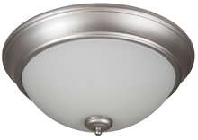 "Craftmade XP13BN-2W - Pro Builder 2 Light 13"" Flushmount in Brushed Satin Nickel"