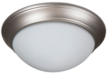 "Craftmade XPP15BN-3W - Pro Builder Premium 3 Light 15"" Flushmount in Brushed Satin Nickel"