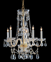 Crystorama 1125-PB-CL-MWP - Crystorama Traditional Crystal 5 Light Crystal Brass Chandelier