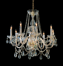 Crystorama 1128-PB-CL-MWP - Crystorama Traditional Crystal 8 Light Crystal Brass Chandelier II