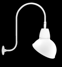 "RAB Lighting GN3LED13YSADW - GOOSENECK UPCURVE 30"" HIGH, 25"" FROM WALL 13W WARM LED 15"" ANGLED DOME SHADE SPOT REFLEC"