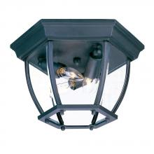 Acclaim Lighting 5602BK - Flushmount Collection Ceiling-Mount 3-Light Outdoor Matte Black Light Fixture