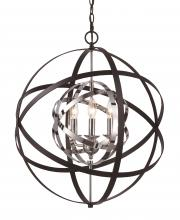 Trans Globe 10793 PC/BK - 3 Light Pendant