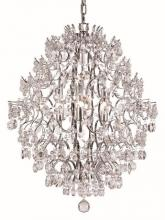 Trans Globe HH-6 PC - Six Light Polished Chrome Down Chandelier