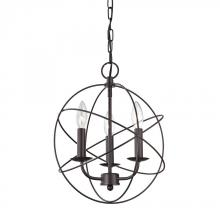 Elk Cornerstone 1513CH/10 - Williamsport 3 Light Chandelier In Oiled Rubbed