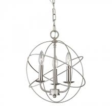 Elk Cornerstone 1513CH/20 - Williamsport 3 Light Chandelier In Brushed Nicke