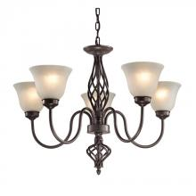 Elk Cornerstone 2205CH/10 - Santa Fe 5 Light Chandelier  In Oil Rubbed Bronz