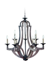 Jeremiah 35129-WP - 9 Light Two Tier Chandelier