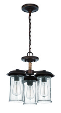 Jeremiah 36153-ABZ - 3 Light Convertible Semi Flush