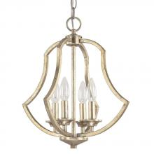 Capital 4694WG - Four Light Winter Gold Foyer Hall Pendant