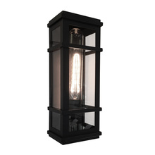 Steven & Chris SC13111BK - Granger Square 1 Light  Black Outdoor Wall Light