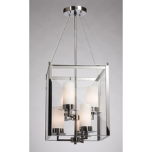 Steven & Chris SC656BK - Six Light Matte Black Clear Outer And Clear Candle Glass Framed Glass Foyer Hall Fixture