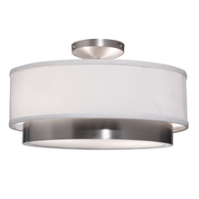 Steven & Chris SC785 - Scandia 2 Light  Brushed Nickel Semi Flush