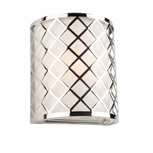 Steven & Chris SC961 - Trellis 1 Light  Chrome Wall Bracket