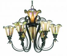 Kenroy Home 90896TS - Inverness 6+3 Lt Chandelier