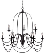 Kenroy Home 93069ORB - Pannier 9 Light Chandelier