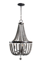 Kenroy Home 93131GBRZ - Dumas 3 Lt Wood Bead Chandelier