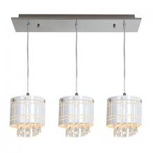Access 50971-CH/WH - Three Light Ch  Wh  Glass Multi Light Pendant