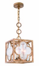 Elegant 1526D10GIAG - 1526 Trinity Collection Pendant L:10in W:10in H:12.5in Lt:4 Golden Iron Finish