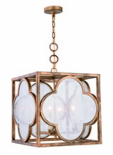 Elegant 1526D18GIAG - 1526 Trinity Collection Pendant L:18in W:18in H:20.5in Lt:4 Golden Iron Finish