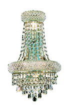 Elegant 1802W12SC/RC - 1802 Primo Collection Wall Sconce w/ Neck W12in H18in E7in Lt:4 Chrome Finish (Royal Cut Crystals)