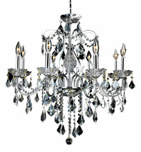 Elegant 2015D26C/RC - 2015 St. Francis Collection Hanging Fixture D26in H23in Lt:8 Chrome Finish  (Royal Cut Crystals)