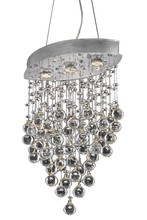 Elegant 2025D18C/SA - 2025 Galaxy Colloection Pendant L:18 in W:10in H:26.5in Lt:3 Chrome Finish (Spectra� Swarovski� Crys
