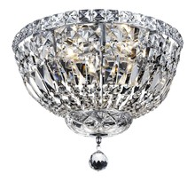 Elegant 2528F14C/RC - 2528 Tranquil Collection Flush Mount D14in H9in Lt:4 Chrome Finish (Royal Cut Crystals)