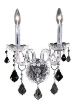Elegant 7831W2C/RC - 7831 Alexandria Collection Wall Sconce W13in H15in E8.5in Lt:2 Chrome Finish (Royal Cut Crystal)