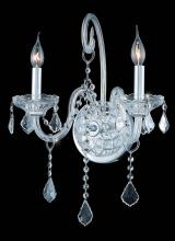 Elegant 7852W2C/RC - 7852 Verona Collection Wall Sconce W14in H20in E8.5in Lt:2 Chrome Finish (Royal Cut Crystals)
