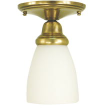 Framburg 2940 AB - 1-Light Antique Brass Taylor Flush / Semi-Flush Mount