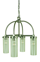 Framburg 4439 BN/C - 4-Light Brushed Nickel/Clear Glass Hammersmith Chandelier