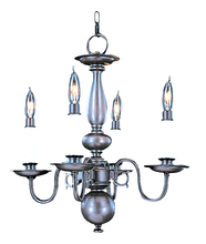 Framburg 9143 SP - 4-Light Satin Pewter Jamestown Mini Chandelier